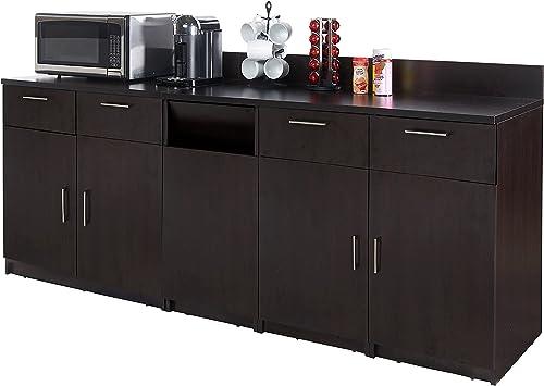 Coffee Kitchen Lunch Break Room Cabinets Model 4510 BREAKTIME 3 Piece Group Color Espresso