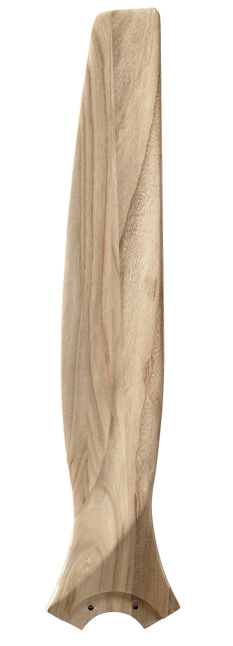 Fanimation B6720N Spitfire 30'' Carved Wood Blade Set of 3, Natural