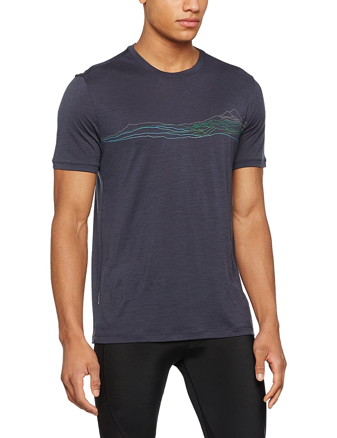 Icebreaker Herren Tech Lite Ss Crewe Waterline T-Shirt
