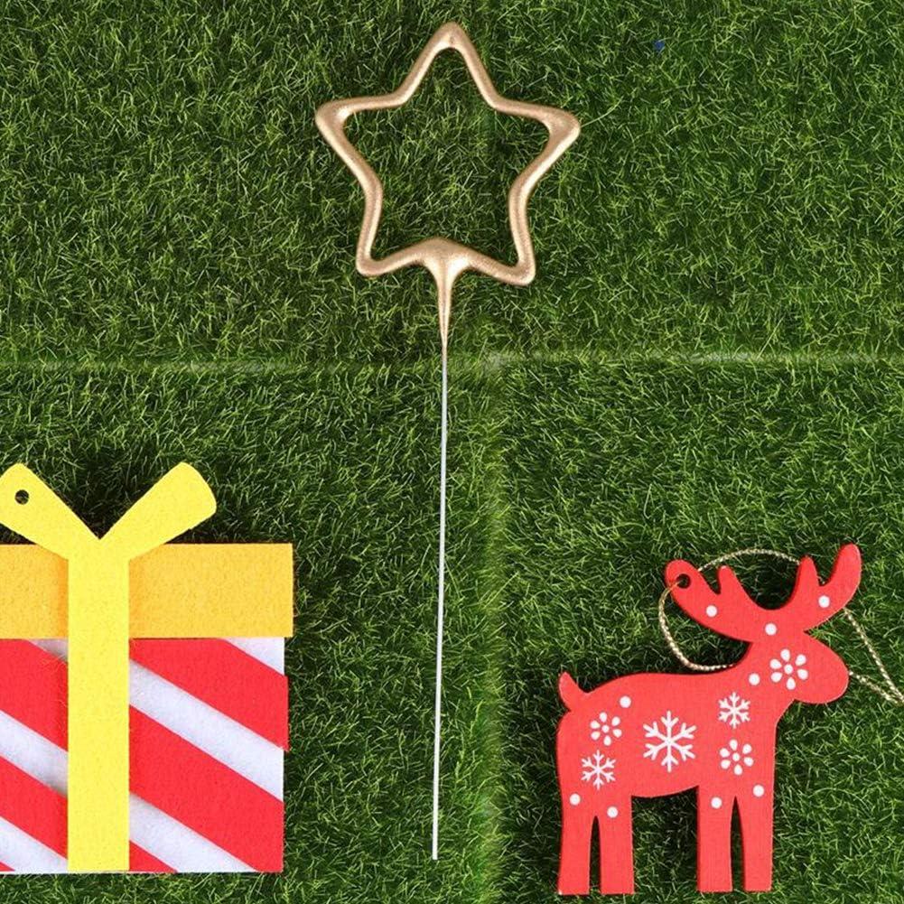 fiestas de Navidad Hileyu 10 velas de cumplea/ños con forma de coraz/ón y estrellas para tartas aniversarios velas de cumplea/ños bodas