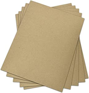 Chipboard - 30 pt (Point) | Medium Weight Scrapbook Sheets | Brown Kraft Cardboard | 25 Sheets per Pack | 8.5 x 11 Inches