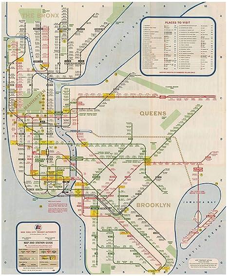 Amazon.com: New York City Transit Maps, New York City Subway Map and ...