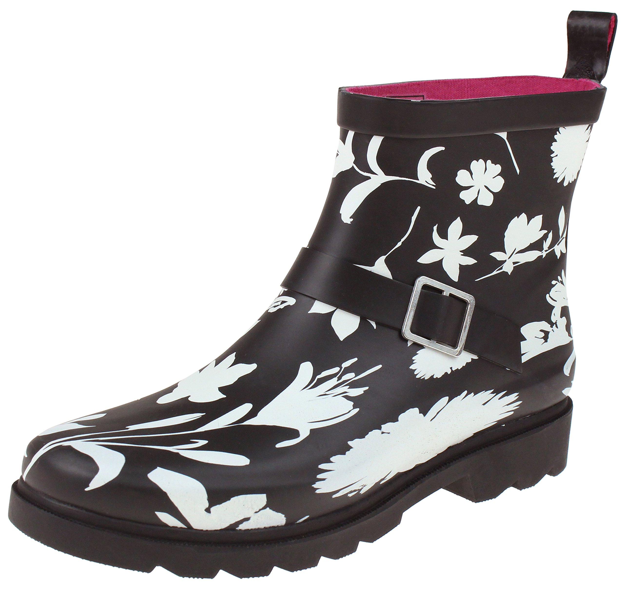 Capelli New York Ladies Floral Silos Printed Rain Boots Black Combo 9