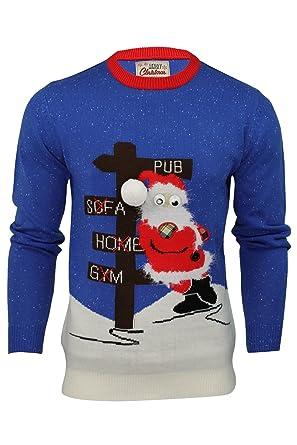 60% Freigabe perfekte Qualität speziell für Schuh Herren Pullover - 3D-Weihnachtsmotiv Drunk Santa: Amazon.de ...