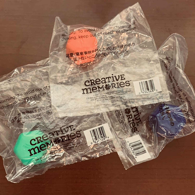 Creative Memories Red Green Blue Swivel Blade Cartridge Set