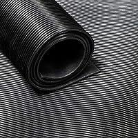 Rubberen lopers/rubberen mat van de rol, groeven 120 cm x 3 mm