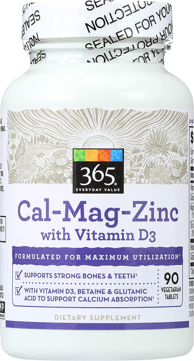 365 Everyday Value, Cal-Mag-Zinc with Vitamin D3, 90 ct