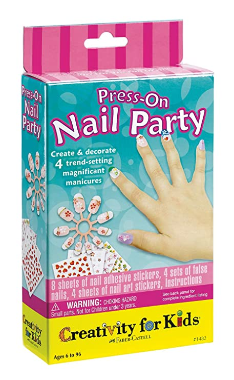 Amazon.com: Creativity for Kids Press On Nail Party: Toys & Games