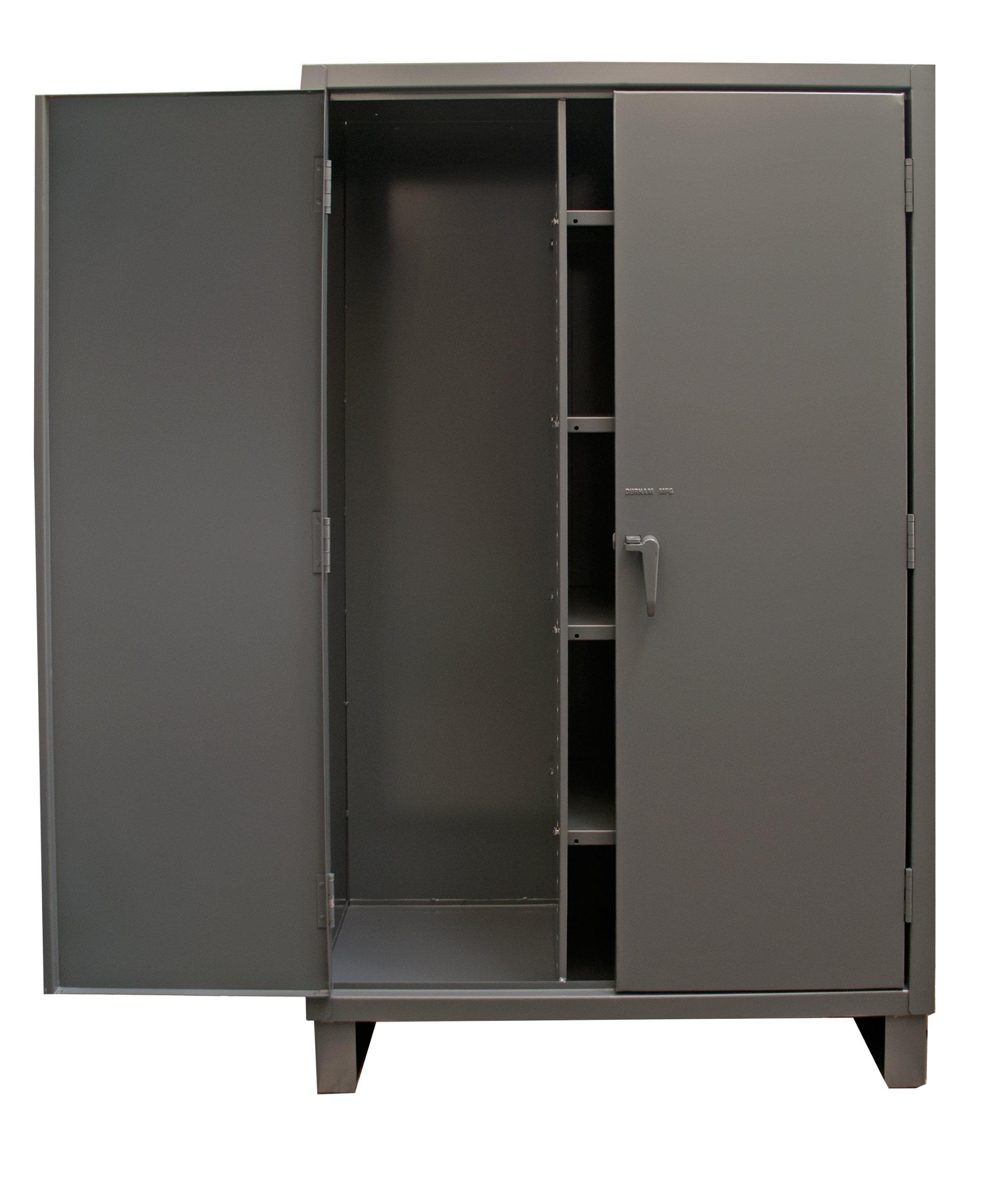 Durham Extra Heavy Duty Welded 12 Gauge Steel Lockable Maintenance Cabinet, HDJC244878-4S95, 1375 lbs Shelf Capacity, 24'' Length x 48'' Width x 78'' Height, 4 Shelves