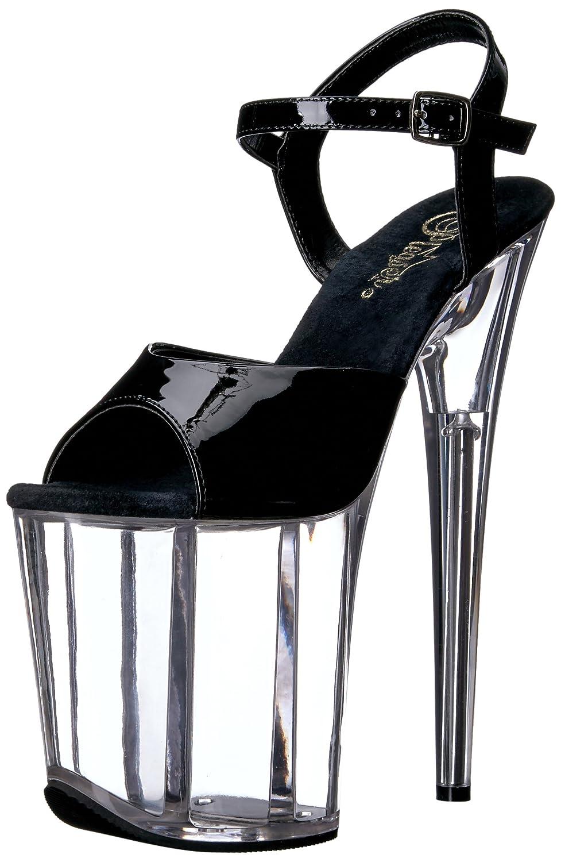 Pleaser Women's Flam809/b/c Platform Sandal B01MT1FC9F 7 B(M) US|Black Patent/Clr