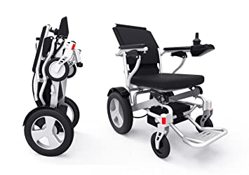 Sentire Med Forza D09 Deluxe Fold Foldable Power Compact Mobility Aid Wheel  Chair, Lightweight Folding