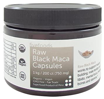 Amazon.com: Negro Maca cápsulas – Raw, orgánico, comercio ...