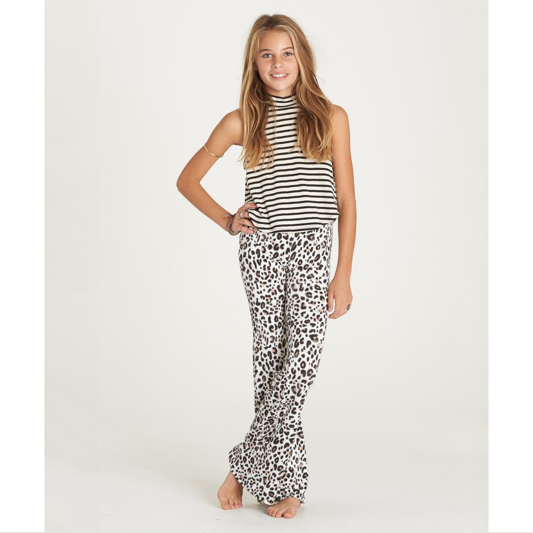 Billabong Big Girls' Tell Me Knit Fitted Flare Pant, Wcp, L