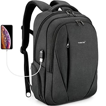 Backpack Business Work Travel Backpack Laptop Backpack Computer with USB Charging Port for Men Fits Water Resistant Bookbag College School Daypacks & Casual Bags