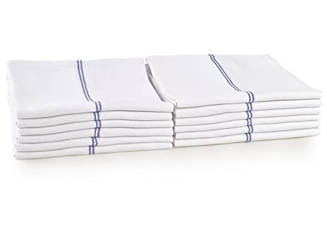 YOURTABLECLOTH Kitchen Dish Towels Pack Of 12 Lint Free 100% Cotton Dish  Towels