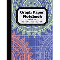 Graph Paper Notebook: Squared Graphing Paper   Quad Ruled   5 squares per inch   100 pages   8.5 x 11 in. large print (graph ruled notebook)