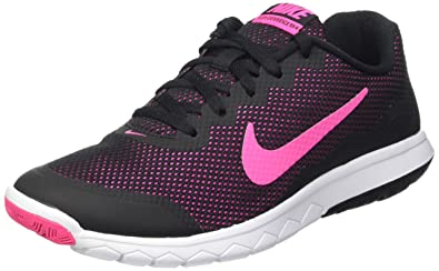 Nike Womens Flex Experience Rn 4 Running Shoe Black/Pink Foil/White 5.5 B
