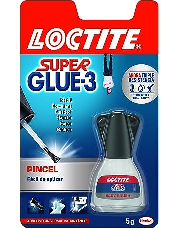 Loctite Super Glue-3 Pincel, pegamento transparente con pincel aplicador, adhesivo universal de