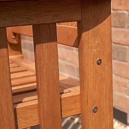 H-Smart Juego de 2 sillas de Madera Dura para Jardín, 2 ...
