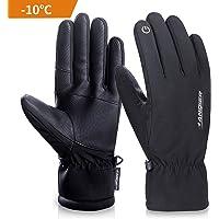 coskefy Winterhandschuhe Herren Damen Touchscreen Warm Skihandschuhe Kältebeständig Thermische 3M Baumwolle Winddicht Outdoor Sport für Reiten Laufen Skifahren Wandern Radfahren Motorrad Handschuh