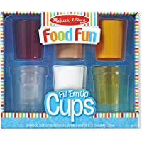 Melissa & Doug Create-A-Meal Fun - Fill Up Cups-Play Food & Kitchen Accessories Role Toy, Multicolor