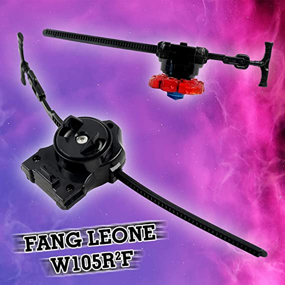Crush Red Fang Leone W105R2F Burning Claw Metal Fusion Battling Top Launcher Included
