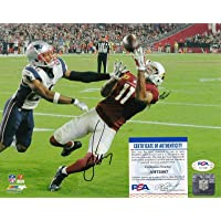 $124 » Signed Larry Fitzgerald Photo - 8x10 - PSA/DNA Certified - Autographed NFL Photos