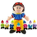 Fiesta Crafts - T-2310 - Marionnettes À Main - Coffret Blanche Neige Et Les Sept Nains