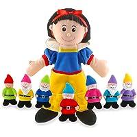 Tellatale - Marioneta de mano de Blancanieves con marionetas de dedo de los siete enanitos