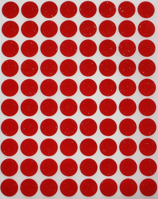 mezzo tondo bianco Coding etichette /-dot etichette/ 1200/pezzi Value Pack White Dot stickers/ /-semi finitura lucida 0.5/pollici 1//2/