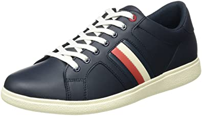 Herren D2285ANNY 2A Sneaker, Weiß (White), 45 EU Tommy Hilfiger