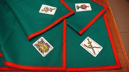 TAPETE Cartas Fieltro 100% Lana con ASES BARAJA ESPAÑOLA (80 X 80 CM)