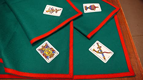 TAPETE Cartas Fieltro 100% Lana con ASES BARAJA ESPAÑOLA (120 X 120 CM SIN Cartas)