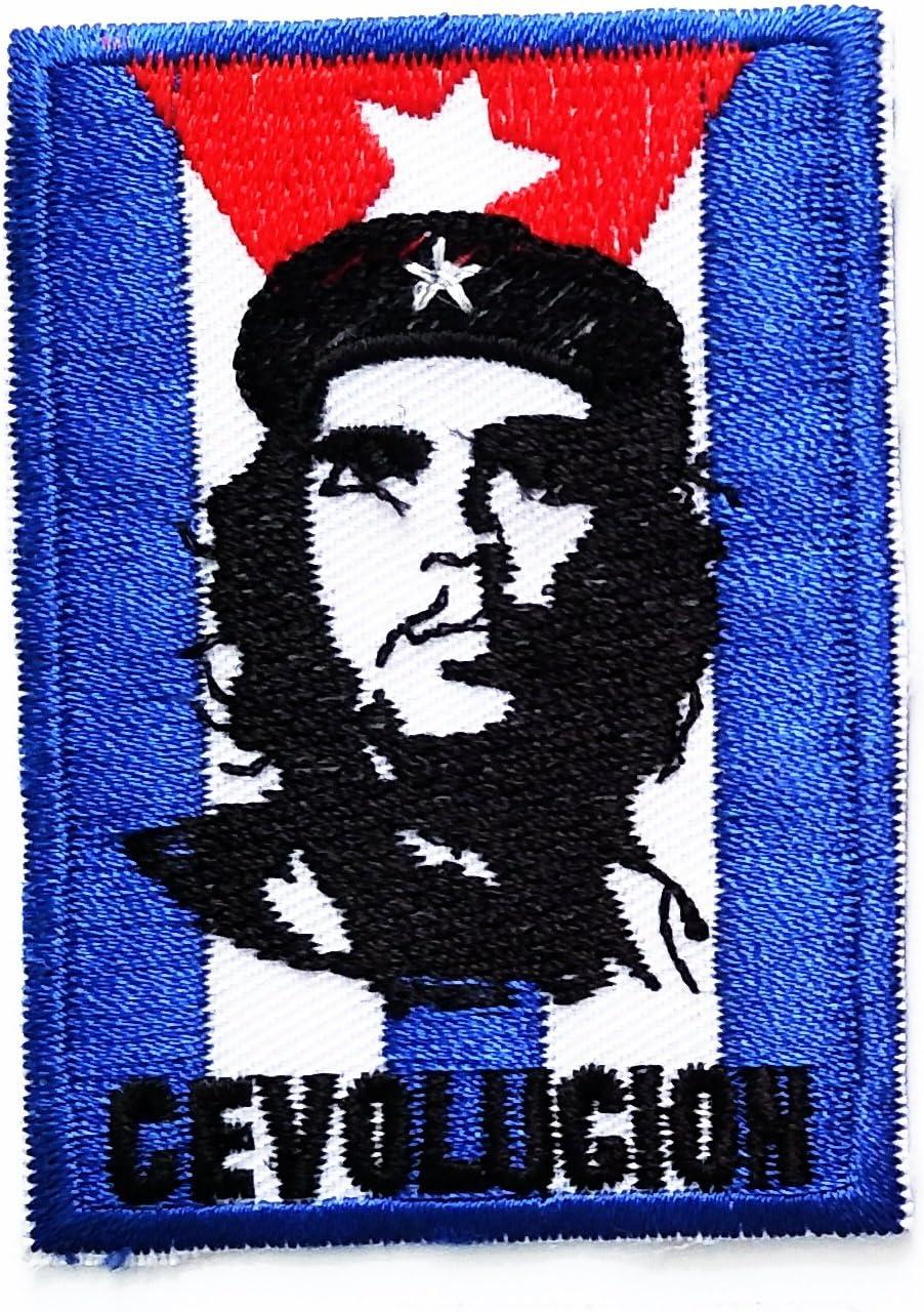Che Guevara ejército Militar bandera parche Che Guevara ejército Militar banda de música Heavy Metal Punk Rock Logo hierro en Sew On patch chaqueta camiseta parche coser hierro en bordados insignia símbolo
