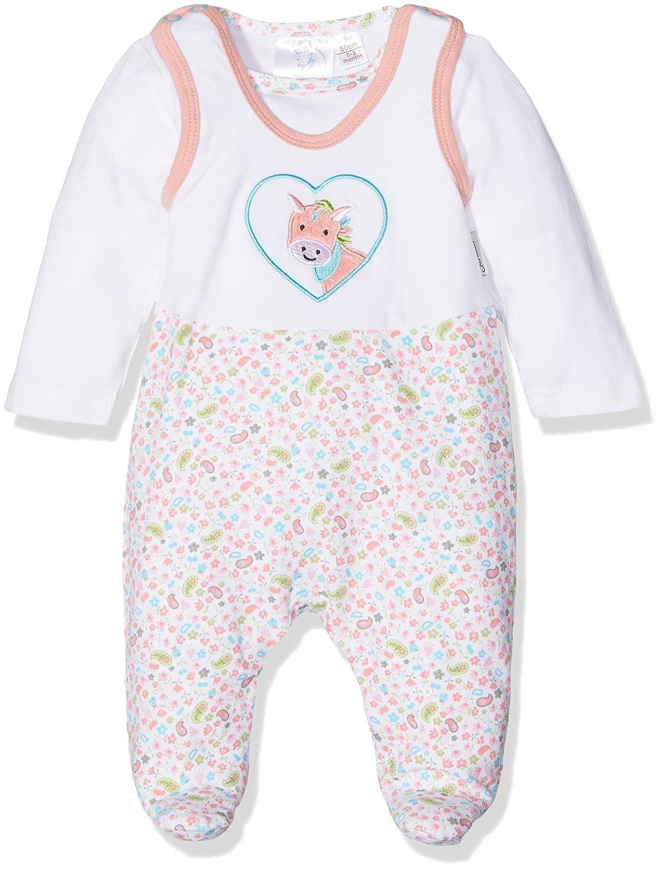 Sterntaler Baby-M/ädchen Strampler 5601838 Wei/ß