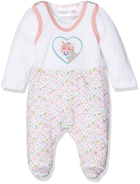 Sterntaler Strampler-Set Jersey Peggy, Pelele para Bebés, Blanco (Weiss 500)