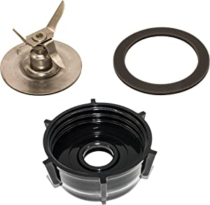 Blendin Ice Crusher Blade with Jar Base Cap, Rubber O Ring Sealing Ring Gasket Combo, Compatible with Oster and Osterizer Blenders