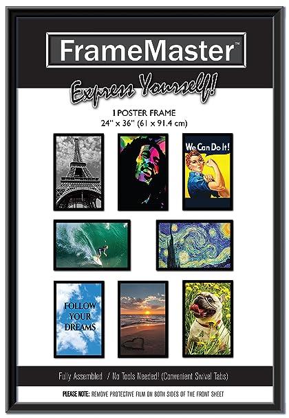 Amazoncom Framemaster 24x36 Poster Frame 1 Pack Black Pre