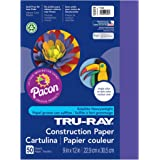 "Tru-Ray PAC103019BN Construction Paper, Purple, 9"" x 12"", 50 Sheets per Pack, 5 Packs"