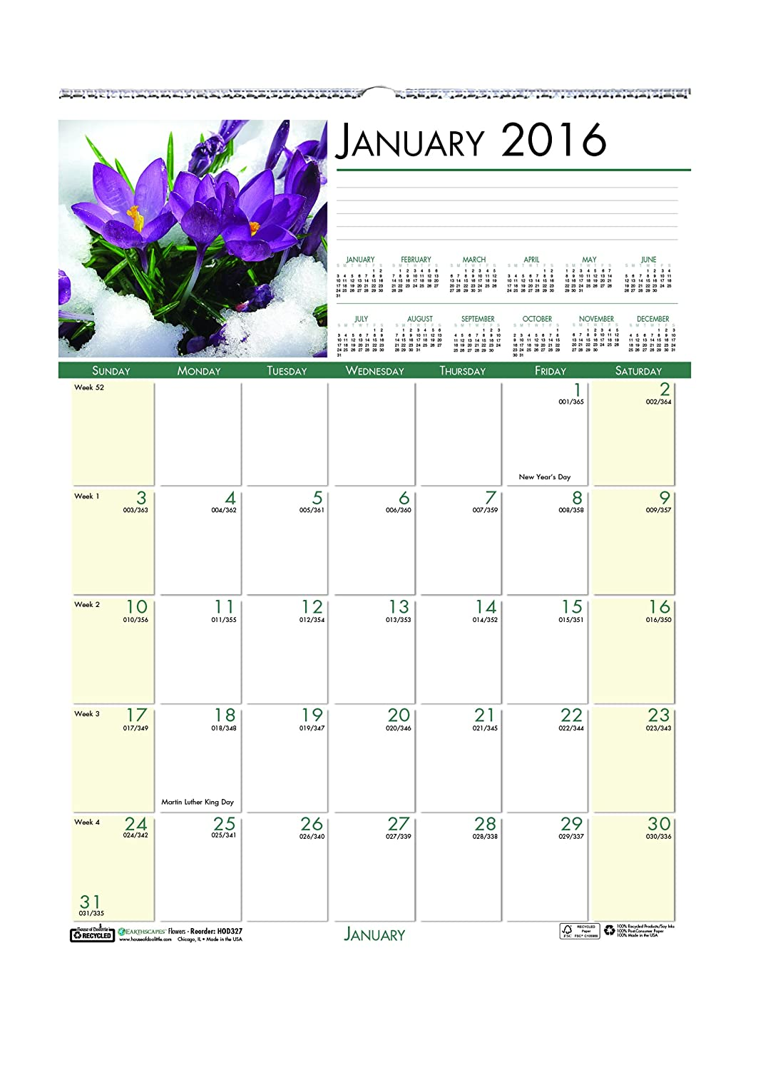 House of Doolittle 2016 Monthly the Wall Calendar, Earthscapes Gardens of the Monthly World 90dfd4