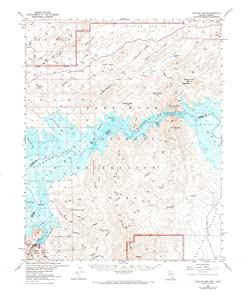 YellowMaps Hoover Dam AZ topo map, 1:62500 Scale, 15 X 15 Minute, Historical, 1953, Updated 1973, 21.9 x 17.9 in