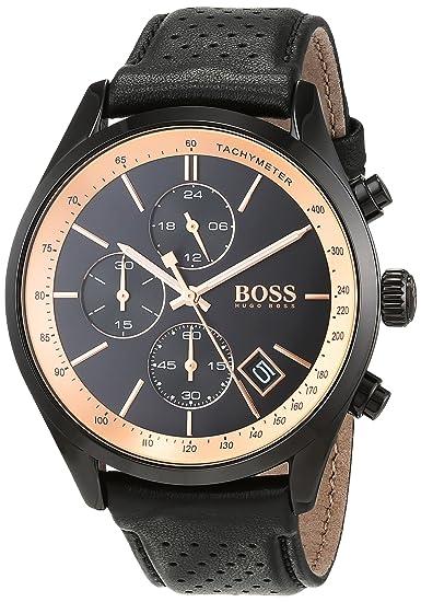 Hugo BOSS Reloj Cronógrafo para Hombre de Cuarzo con Correa en Cuero 1513550