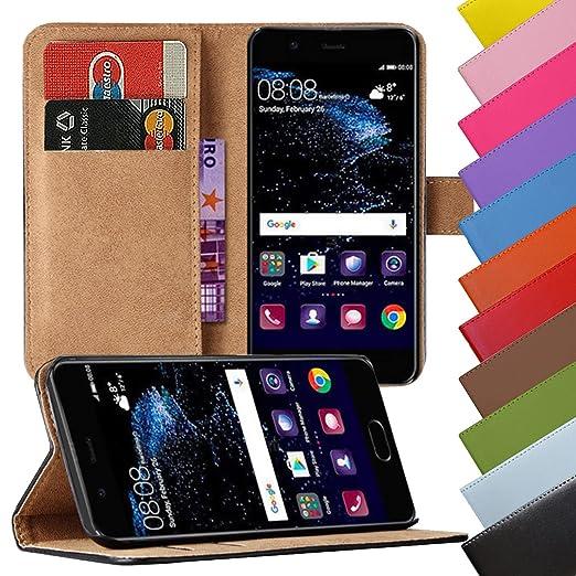 Eximmobile - Book Case Handyhülle für Huawei Y3 / Y360 mit Kartenfächer in Schwarz | Schutzhülle aus Kunstleder | Handytasche