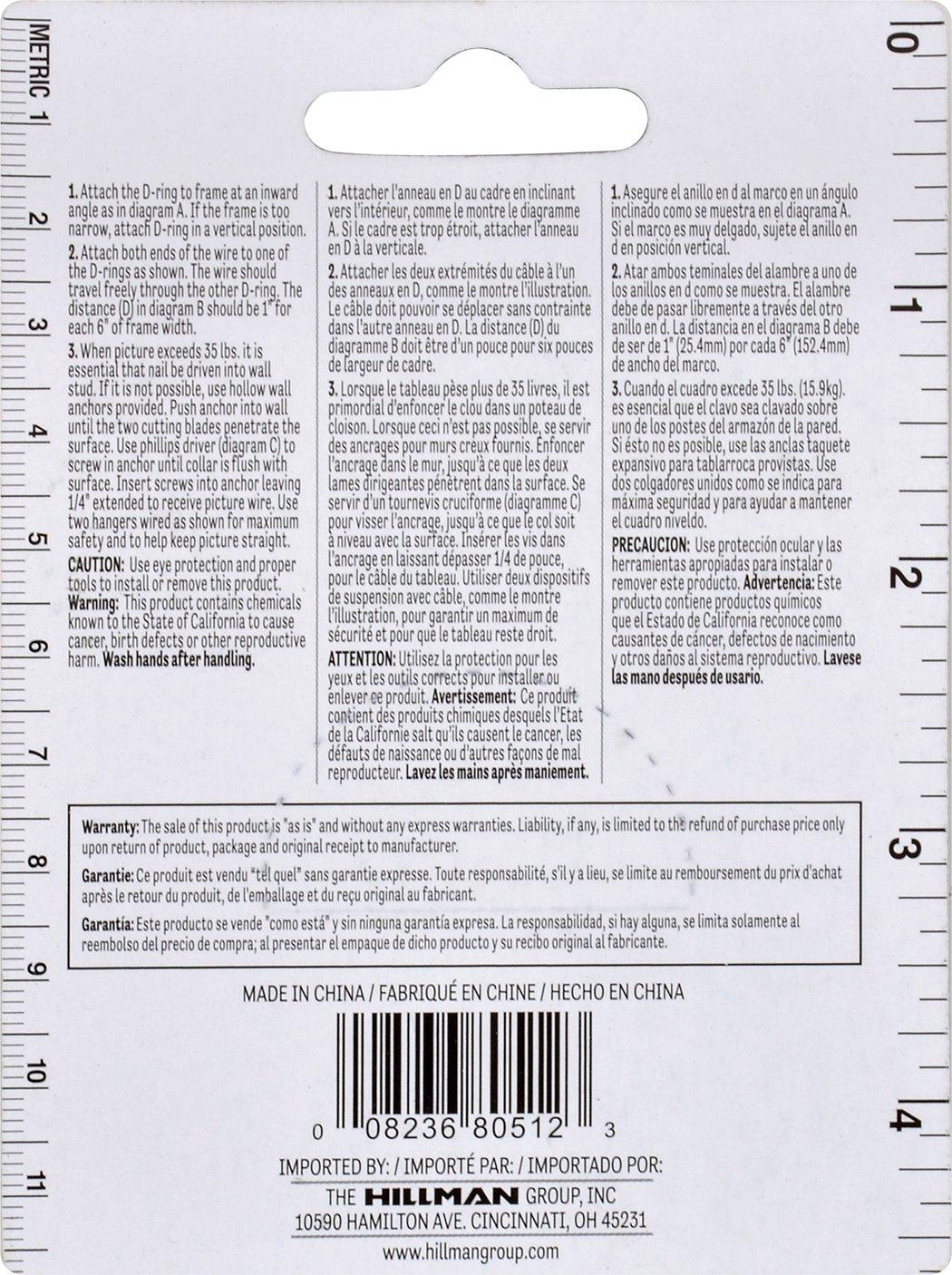 Hillman 121130 Heavy Duty Mirror Holder Kit 100lbs, 11-Pieces ...