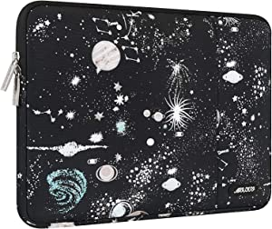 MOSISO Laptop Sleeve Compatible with 13-13.3 inch MacBook Pro, MacBook Air, Notebook Computer, Water Repellent Polyester Vertical Carrying Case Cover Bag with Pocket, Universe Black Base