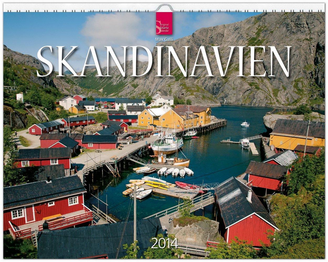 Skandinavien 2014 [Norwegen - Schweden - Finnland]: Original Stürtz-Kalender - Großformat-Kalender 60 x 48 cm [Spiralbindung]