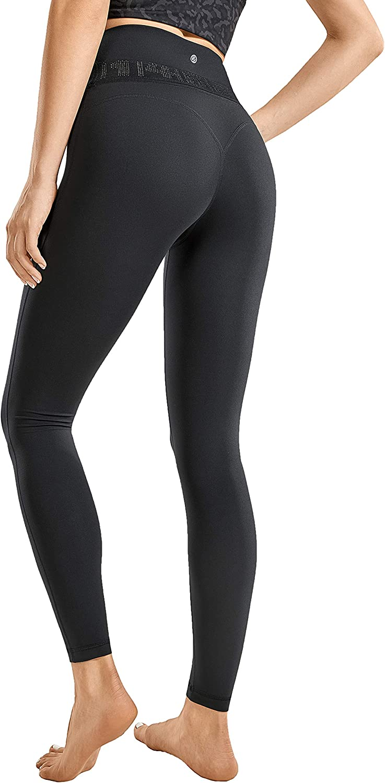 CRZ YOGA Naked Feeling Soft Women's Reflective High Waisted Leggings Yoga Pants Workout Leggings-25 Inches