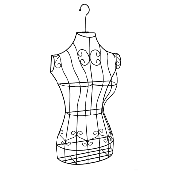 MyGift Black Metal Wire Display Dress Form
