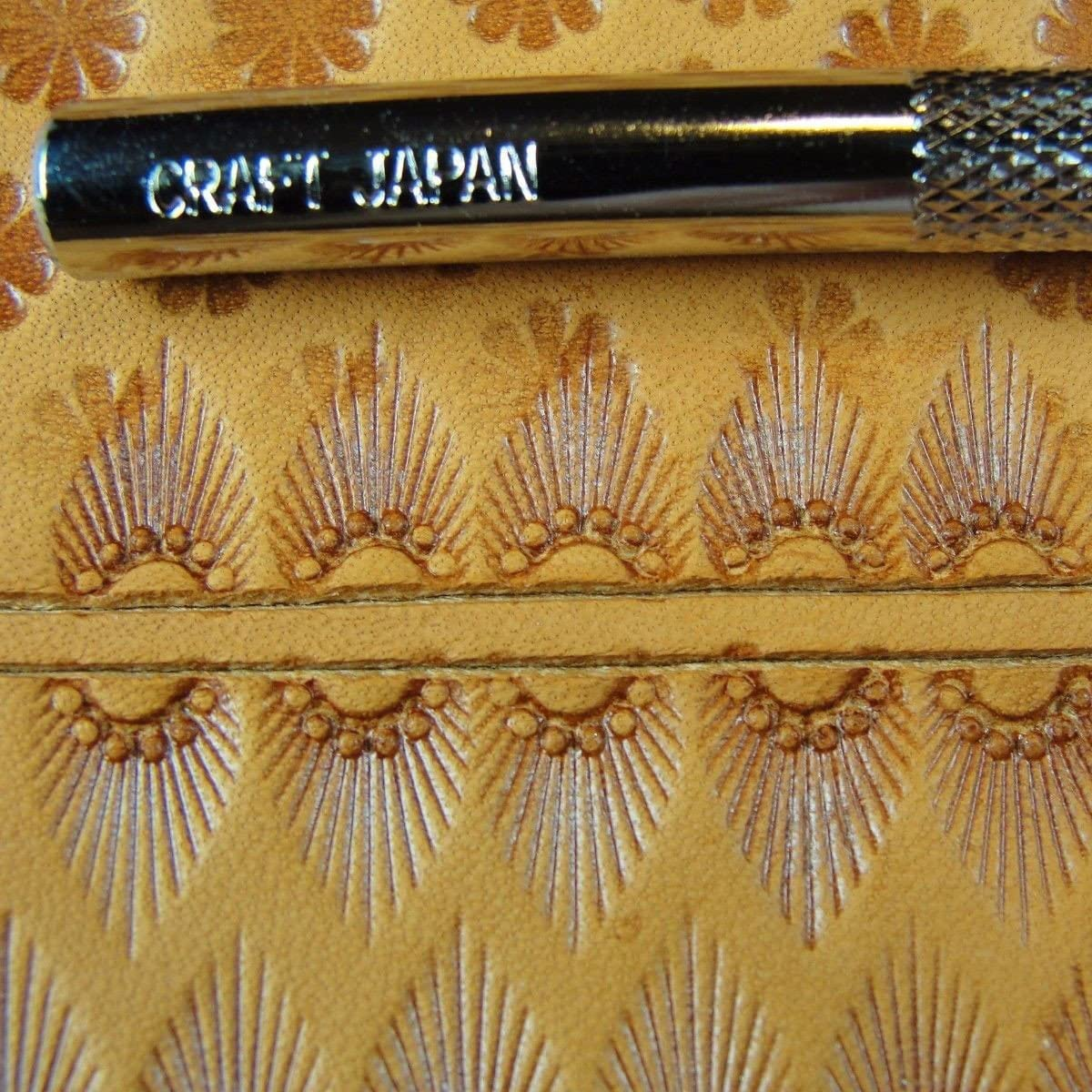 Steel Craft Japan Leather Stamping Tool #D607 11-Seed Border Stamp