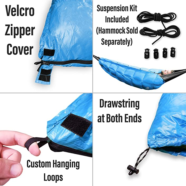 Outdoor Vitals Aerie 30°F Down Underquilt / Sleeping Bag, Use As Ultralight Underquilt